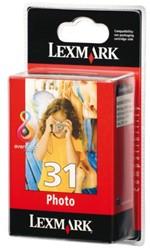 Inkcartridge Lexmark 18C0031E 31 foto kleur