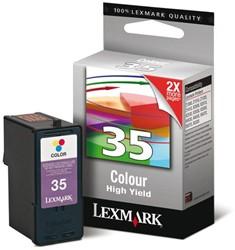 Inkcartridge Lexmark 18C0035E 35 kleur HC