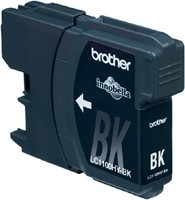 Inkcartridge Brother LC-1100HYBK zwart HC