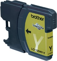 Inkcartridge Brother LC-1100HYY geel HC