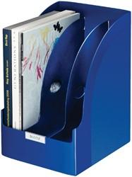 Tijdschriftcassette Leitz Plus jumbo blauw