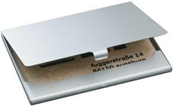 Visitekaartenhouder Sigel VZ135 15 kaarten graveerbaar mat zilver