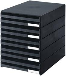 Ladenbox Styroval 10 laden zwart open