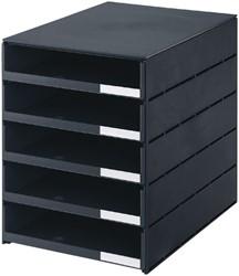Ladenbox Styroval 5 laden open zwart