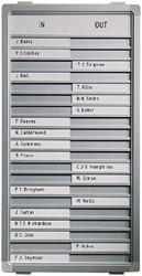 Aan-afwezigheidsbord Legamaster 77x26cm 30 namen