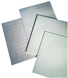 "Computerpapier 380x11"" blauw zebra 60gr"