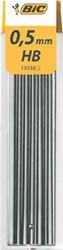 Potloodstift Bic 0.5mm HB koker à 12st