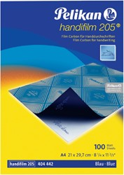 Carbon handschrift Pelikan A4 10V blauw