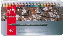 Kleurpotloden Caran d'Ache Pablo assorti blik à 40stuks