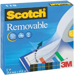 Plakband Scotch Magic 811 19mmx33m onzichtbaar verwijderbaar mat