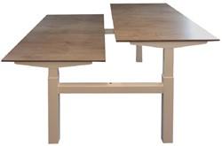 """Zit-Sta bureau's """"bench"""" (hoogte 64-130cm) 180x80cm elektrisch"""