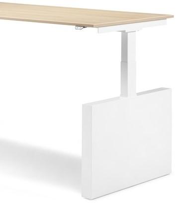 Zit-Sta bureau met wangen (hoogte 64-130cm) 180x80cm elektrisch