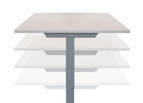 """Zit-Sta bureau's """"bench"""" (hoogte 64-130cm) 160x80cm elektrisch-2"""