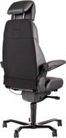 Bureaustoel 24-uurs, inzetbaar tot 200 kg - Mix Xtreme/Leder Zwart - Standaard Wielen (voor zachte ondergrond)-3