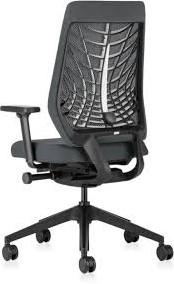 Bureaustoel Stof Zwart.Bureaustoel Interstuhl Joyce Jc216 Met 3d Netbespanning Zwart