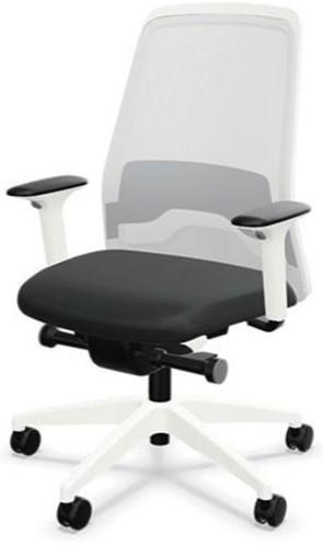 Bureaustoel Interstuhl New Every EV211 wit  / zwart stof Era