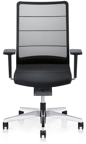 Bureaustoel Interstuhl Airpad zwart met gepolijst voetkruis-2