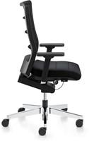 Bureaustoel Interstuhl Airpad zwart met gepolijst voetkruis-3
