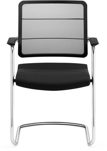 Bezoekersstoel Interstuhl Airpad 5C30 - Lucia Zwart (5800)-2