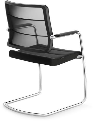 Bezoekersstoel Interstuhl Airpad 5C30 - Lucia Zwart (5800)-3