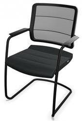 Bezoekersstoel Interstuhl Airpad 5C30 - Lucia Zwart (5800)
