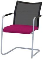 Bezoekersstoel Huislijn Alfa hoge rug netbespanning Zwart Padding gestoffeerd-2