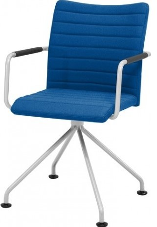 Bezoekersstoel Huislijn Alfa hoge rug Zwart Padding gestoffeerd-2