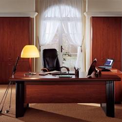 Directief tafel 180x90cm vaste hoogte Mahonie/Antraciet
