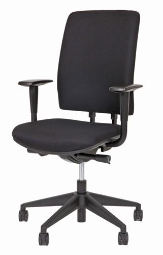 Bureaustoel Van Hilten Huislijn BG02 - Oasis Zwart (9111)