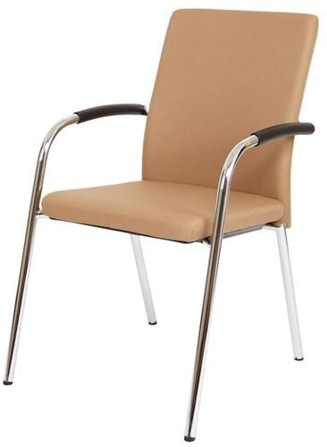 Bezoekersstoel Van Hilten Huislijn BG23 - Oasis Bruin (9766)