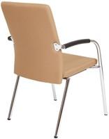 Bezoekersstoel Van Hilten Huislijn BG23 - Oasis Bruin (9766)-3