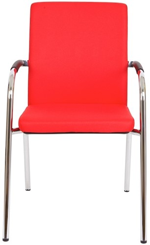 Bezoekersstoel Van Hilten Huislijn BG23 - Oasis Rood (9555)-2