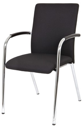 Bezoekersstoel Van Hilten Huislijn BG23 - Oasis Zwart (9111)