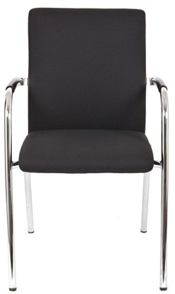 Bezoekersstoel Van Hilten Huislijn BG23 - Oasis Zwart (9111)-2