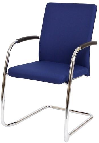 Bezoekersstoel Van Hilten Huislijn BG24 - Oasis Blauw (9212) - Kunststof Vloerglijder (voor zachte ondergrond)