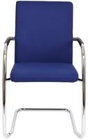 Bezoekersstoel Van Hilten Huislijn BG24 - Oasis Blauw (9212) - Kunststof Vloerglijder (voor zachte ondergrond)-2