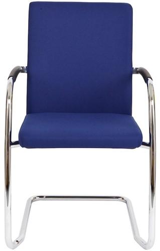 Bezoekersstoel Van Hilten Huislijn BG24 - Oasis Blauw (9212) - Kunststof Vloerglijder met vilt (voor harde ondergrond)-2