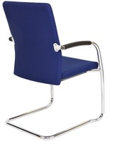 Bezoekersstoel Van Hilten Huislijn BG24 - Oasis Blauw (9212) - Kunststof Vloerglijder (voor zachte ondergrond)-3