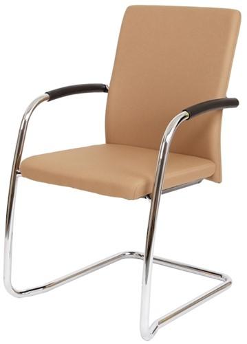 Bezoekersstoel Van Hilten Huislijn BG24 - Oasis Bruin (9766) - Kunststof Vloerglijder (voor zachte ondergrond)
