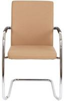 Bezoekersstoel Van Hilten Huislijn BG24 - Oasis Bruin (9766) - Kunststof Vloerglijder (voor zachte ondergrond)-2