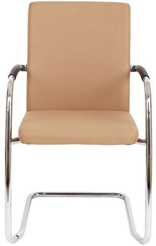 Bezoekersstoel Van Hilten Huislijn BG24 - Oasis Bruin (9766) - Kunststof Vloerglijder met vilt (voor harde ondergrond)-2