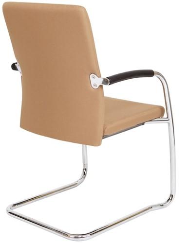 Bezoekersstoel Van Hilten Huislijn BG24 - Oasis Bruin (9766) - Kunststof Vloerglijder met vilt (voor harde ondergrond)-3