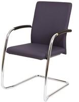 Bezoekersstoel Van Hilten Huislijn BG24 - Oasis Grijs (9114) - Kunststof Vloerglijder (voor zachte ondergrond)