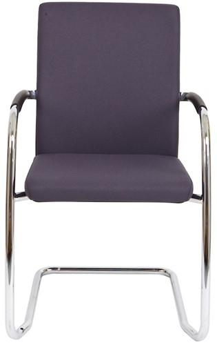 Bezoekersstoel Van Hilten Huislijn BG24 - Oasis Grijs (9114) - Kunststof Vloerglijder (voor zachte ondergrond)-2