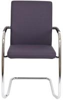 Bezoekersstoel Van Hilten Huislijn BG24 - Oasis Grijs (9114) - Kunststof Vloerglijder met vilt (voor harde ondergrond)-2