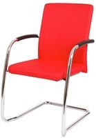 Bezoekersstoel Van Hilten Huislijn BG24 - Oasis Rood (9555) - Kunststof Vloerglijder (voor zachte ondergrond)