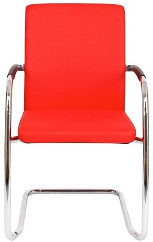 Bezoekersstoel Van Hilten Huislijn BG24 - Oasis Rood (9555) - Kunststof Vloerglijder (voor zachte ondergrond)-2