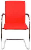 Bezoekersstoel Van Hilten Huislijn BG24 - Oasis Rood (9555) - Kunststof Vloerglijder met vilt (voor harde ondergrond)-2