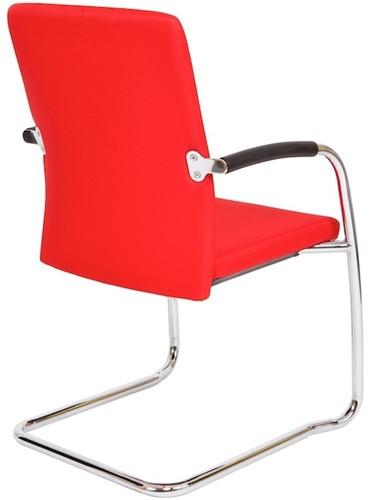 Bezoekersstoel Van Hilten Huislijn BG24 - Oasis Rood (9555) - Kunststof Vloerglijder (voor zachte ondergrond)-3