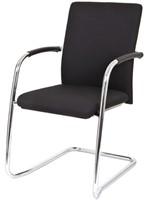 Bezoekersstoel Van Hilten Huislijn BG24 - Oasis Zwart (9111) - Kunststof Vloerglijder met vilt (voor harde ondergrond)